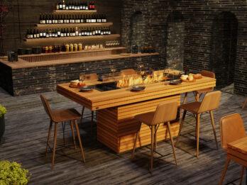 Gin 90-ild bar bord-Teak-Bioethanol-StormSystems
